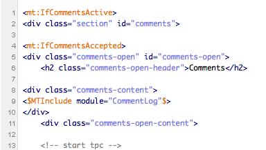 TypePad Connect導入前のコメントを表示する。